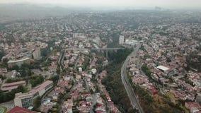 Aerial drone view of new residential area of Mexico City suburbs. Huixquilucan, Estado de Mexico, Mexico, january 20th 2019: Aerial drone view of new residential stock video footage