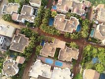 Aerial Drone view of niarela Quizambougou Niger Bamako Mali. Bamako is the capital and largest city of Mali, with a population of 1.8 million. In 2006, it was royalty free stock images