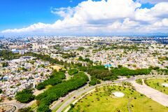 Free Aerial Drone View Of Santo Domingo City. The Capital Of Dominican Republic Royalty Free Stock Images - 184909429