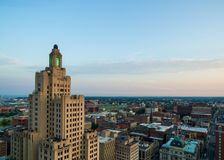 Aerial drone view of Providence Rhode Island Stock Photography