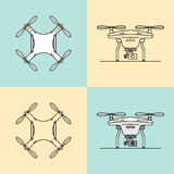 Aerial drones icons set. Stock Photography