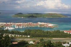 Aerial Eden Island. Eden island in Victoria, Mahe, Seychelles Royalty Free Stock Image