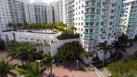 Aerial elevation Harbour Island Miami Beach Stock Photo