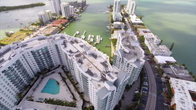 Aerial elevation Harbour Island Miami Beach Stock Photos