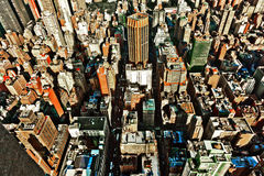Aerial from Empire state building over New York Stock Photos