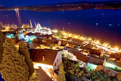 Aerial evening view of Sibenik Stock Photography