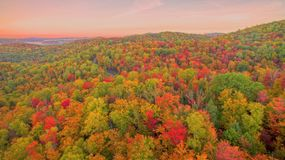 Aerial fall color Royalty Free Stock Photography