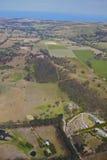 Aerial farm land Stock Image