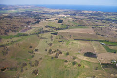 Aerial farm land Stock Photo