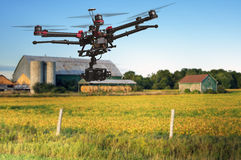 Aerial Farm patrol Stock Photography
