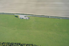 Aerial farmland Royalty Free Stock Photos