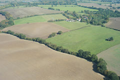 Aerial farmland Royalty Free Stock Images