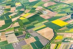 Aerial of farmland near Mainz Royalty Free Stock Photos