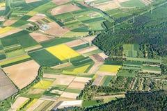 Aerial of farmland near Mainz Stock Photo