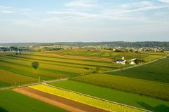 Aerial of Farmland. An aerial view of farmland in southern Lancaster County Stock Images