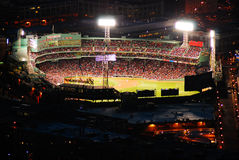 An Aerial of Fenway park, Homw of the Boston Red Sox Stock Photos
