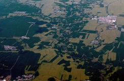 Aerial field Royalty Free Stock Photo