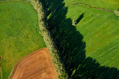 Aerial field Stock Photography