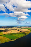 aerial of fields Stock Photo