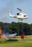Aerial fire fighting helicopter royalty free stock photos