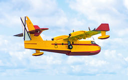 Aerial firefighting. stock photo