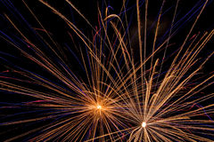 Aerial Fireworks Show Royalty Free Stock Images