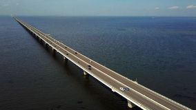 Overseas highway aerial stock video footage