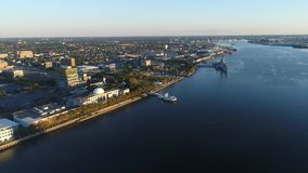 Aerial Flight Camden New Jersey Waterfront Royalty Free Stock Photo