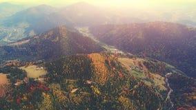 Aerial Flight in Carpathian mountains. 4k, 30fps stock footage