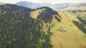 Aerial Flight in Carpathian mountains. 4k, 30fps stock video footage