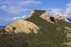 Aerial flight ecoflight over Heart Mountain area Stock Images