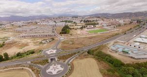 Aerial. Flight Over Ronda Suburb in Andalucia stock video footage