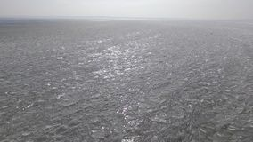 Aerial flight over rough ice. Aerial flight over a rough frozen lake stock video footage