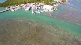 Aerial Florida Keys reefs Royalty Free Stock Image
