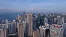 Aerial Florida Miami July 2017 Sunny Day 4K Inspire 2. Aerial video of downtown Miami on a sunny day stock video footage