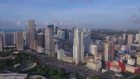 Aerial Florida Miami July 2017 Sunny Day 4K Inspire 2. Aerial video of downtown Miami on a sunny day stock video