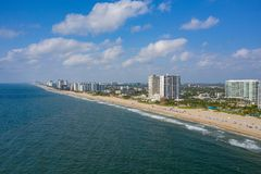 Aerial Florida Pompano Beach photo. Shot with a drone stock photo