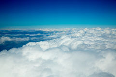 Aerial fluffy clouds view from high like a sea Stock Photo