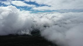 Aerial Flying on the cloud. Aerial Flying on the cloud in Thailand stock video footage