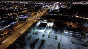 Aerial flying in time lapse stock footage