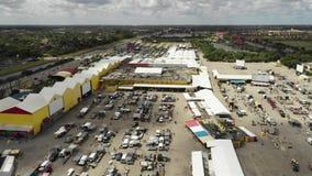 Aerial flyover flea market Swap Shop Sunrise FL