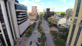 Aerial flythrough of Coral Gables Stock Photo
