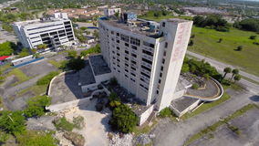 Aerial footage of an abandoned building Stock Photography