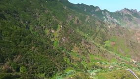 Aerial footage of Anaga natural park in north Tenerife, Canary islands, Spain. stock video footage