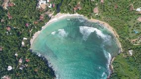Paradise Bay From Above Aerial 4k. Aerial footage of a beautiful bay in Sri Lanka. Slowmotion footage in 4k stock video