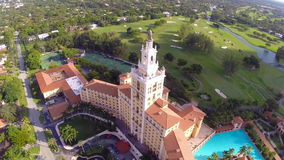 Aerial footage of the Biltmore Hotel Miami Stock Photos