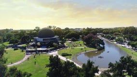 Aerial footage of the Buenos Aires planetarium