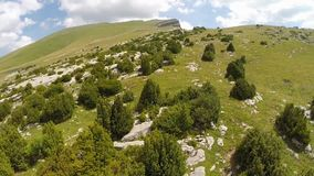 Aerial footage of Canyon de Anisclo in Parque Nacional Ordesa y Monte Perdido, Spain Stock Photography