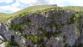 Aerial footage of Canyon de Anisclo in Parque Nacional Ordesa y Monte Perdido, Spain Royalty Free Stock Photos
