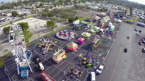 Aerial footage of a carnival Stock Photos